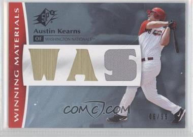 2008 SPx - Winning Materials - Team #WM-AK - Austin Kearns /99