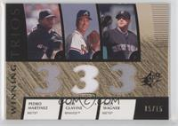Pedro Martinez, Tom Glavine, Billy Wagner /15
