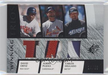 2008 SPx - Winning Trios - TRI Limited Patch #WT-DOP - Albert Pujols, Carlos Delgado, David Ortiz /25