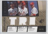 Albert Pujols, Scott Rolen, Chris Carpenter /25