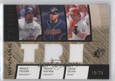 2008 SPx - Winning Trios - TRI #WT-HDF - Prince Fielder, Travis Hafner, Adam Dunn /25