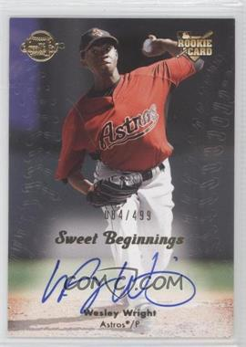 2008 Sweet Spot - [Base] #149 - Wesley Wright /499