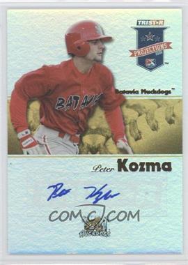 2008 TRISTAR PROjections - [Base] - Yellow Reflectives Autographs [Autographed] #220 - Pete Kozma /25