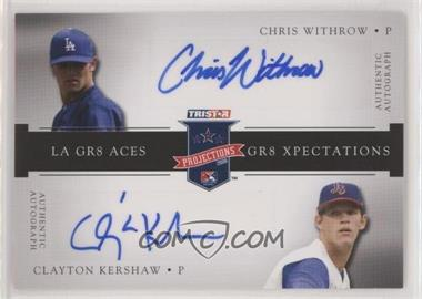 2008 TRISTAR PROjections - GR8 Xpectations Autographs Dual - Black 5 #CWCK - Chris Withrow, Clayton Kershaw /5