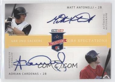 2008 TRISTAR PROjections - GR8 Xpectations Autographs Dual - Yellow #MAAC - Adonis Cardona /25
