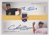 Max Scherzer, Carlos Carrasco [Noted] #/25