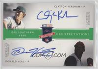 Clayton Kershaw, Donald Veal [Noted] #/50