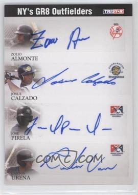 2008 TRISTAR PROjections - GR8 Xpectations Autographs Quadruple - Black 25 #N/A - Jose Pirela, Carlos Urena, Zoilo Almonte /25
