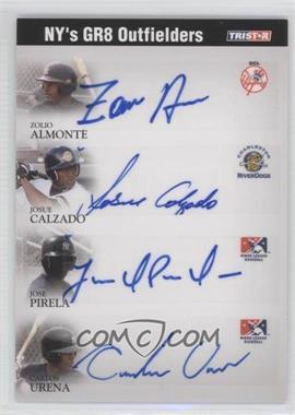 2008 TRISTAR PROjections - GR8 Xpectations Autographs Quadruple - Black 50 #N/A - Joel Pineiro, Carlos Urena, Zoilo Almonte /50