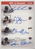 Lars Anderson, Aaron Bates, Jordan Brown, Chris Carter #/25