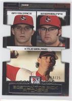 Kyle Weiland, Bryan Price, Stephen Fife #/25