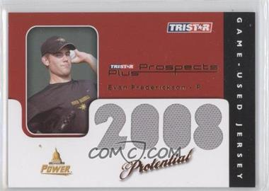 2008 TRISTAR Prospects Plus - PROtential Game Used - Orange #EF - Evan Frederickson /5