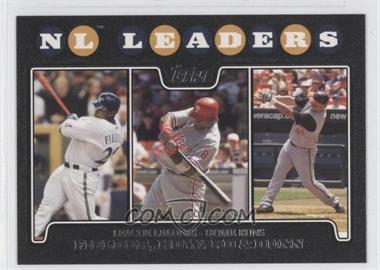 2008 Topps - [Base] - Black #298 - Prince Fielder, Ryan Howard, Adam Dunn /57