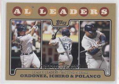 2008 Topps - [Base] - Gold Border #15 - Magglio Ordonez, Ichiro Suzuki, Placido Polanco /2008