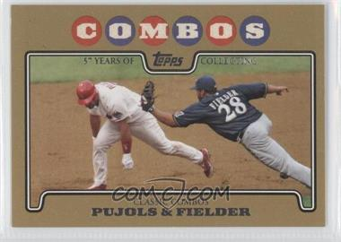 2008 Topps - [Base] - Gold Border #536 - Albert Pujols, Prince Fielder /2008