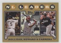Matt Holliday, Ryan Howard, Miguel Cabrera /2008