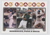 Alex Rodriguez, Carlos Pena, David Ortiz