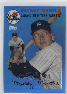 2008 Topps - Factory Set Mickey Mantle Chrome - Blue Refractor #MMR-54 - Mickey Mantle