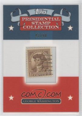 2008 Topps - Framed Presidential Stamp Collection #GW15 - George Washington /90