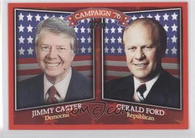 2008 Topps - Historical Campaign Match-Ups #HCM-1976 - Jimmy Carter, Gerald Ford