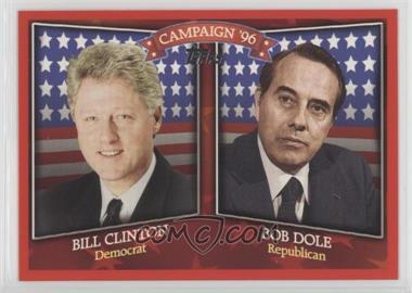 2008 Topps - Historical Campaign Match-Ups #HCM-1996 - Bill Clinton, Bob Dole