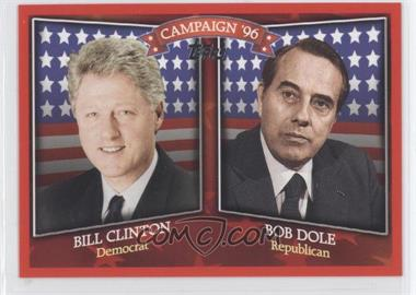 2008 Topps - Historical Campaign Match-Ups #HCM-1996 - Bill Clinton, Bob Dole