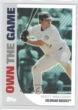 2008 Topps - Own the Game #OTG13 - Matt Holliday