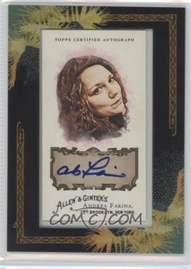 2008 Topps Allen & Ginter's - Framed Mini Autographs - [Autographed] #AGA-AF - Andrea Farina
