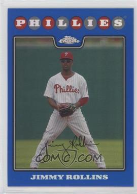 2008 Topps Chrome - [Base] - Blue Refractor #8 - Jimmy Rollins