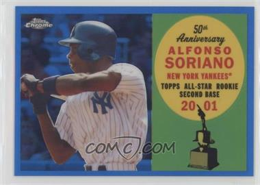 2008 Topps Chrome - Topps All-Rookie Team - Blue Refractor #ARC8 - Alfonso Soriano /200