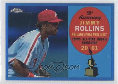 2008 Topps Chrome - Topps All-Rookie Team - Blue Refractor #ARC9 - Jimmy Rollins /200