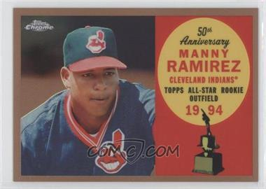 2008 Topps Chrome - Topps All-Rookie Team - Copper Refractor #ARC4 - Manny Ramirez /100