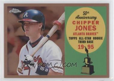 2008 Topps Chrome - Topps All-Rookie Team - Copper Refractor #ARC5 - Chipper Jones /100