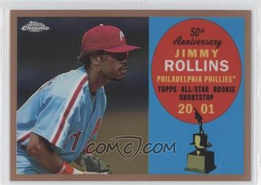 2008 Topps Chrome - Topps All-Rookie Team - Copper Refractor #ARC9 - Jimmy Rollins /100