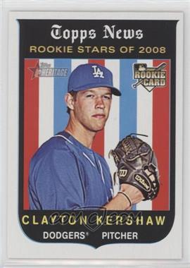 2008 Topps Heritage - [Base] - Black Back #595 - Clayton Kershaw