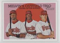 Eric Byrnes, Chris Young, Justin Upton