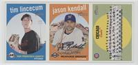 Tim Lincecum, Jason Kendall, Chicago Cubs Team [Noted]