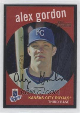 2008 Topps Heritage - Chrome - Black Border Refractor #C186 - Alex Gordon /59