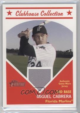 2008 Topps Heritage - Clubhouse Collection Relic #CCMC - Miguel Cabrera