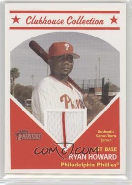 2008 Topps Heritage - Clubhouse Collection Relic #CCRH - Ryan Howard
