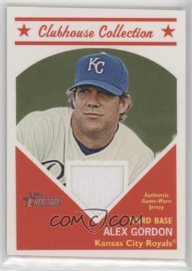 2008 Topps Heritage - Clubhouse Collection Relic #HCCAG - Alex Gordon