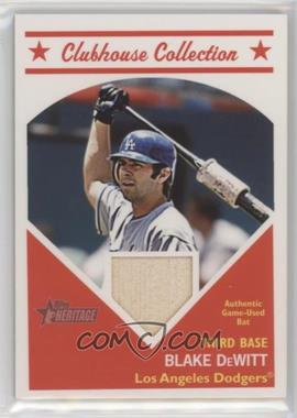 2008 Topps Heritage - Clubhouse Collection Relic #HCCBD - Blake DeWitt