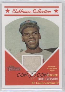 2008 Topps Heritage - Clubhouse Collection Relic #HCCBG - Bob Gibson