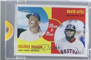 2008 Topps Heritage - Then & Now - Topps Vault Blank Back #TN5 - Mickey Mantle, David Ortiz /1 [Uncirculated]