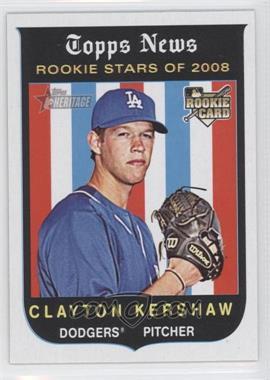 2008 Topps Heritage High Number - [Base] #595 - Clayton Kershaw