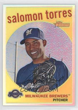 2008 Topps Heritage High Number - Chrome - Refractor #C279 - Salomon Torres /559