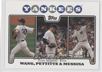 Chien-Ming Wang, Andy Pettitte, Mike Mussina