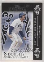 Adrian Gonzalez (2007 MLB Superstar - 46 Doubles) #/25