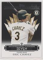 Eric Chavez (2002 Silver Slugger - 34 Home Runs) #/25