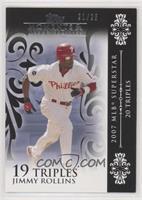 Jimmy Rollins (2007 MLB Superstar - 20 Triples) #/25